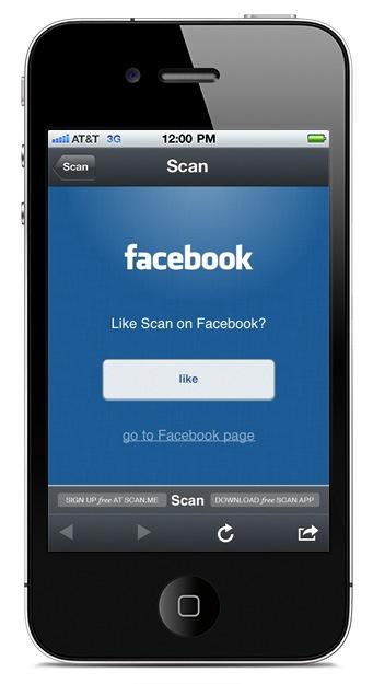 FaceBook Like QR Code iPhone App